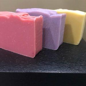 pink grapefruit, lavender, lemon soap